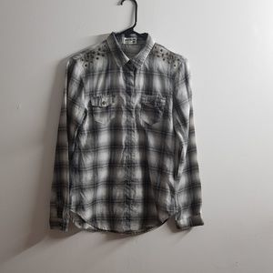 Grey Button Up 2